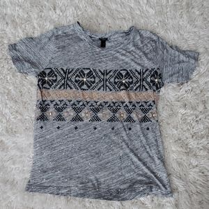 FREE (with purchase) J.Crew embellished tee shirt